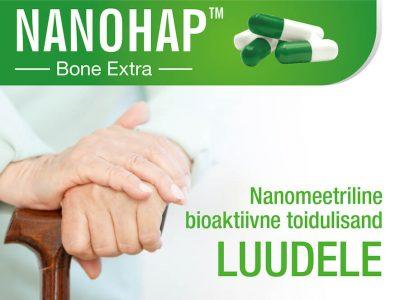NANOHAP™ Bone Extra – nanomeetriline bioaktiivne toidulisand luudele