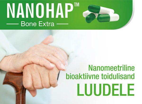 NANOHAP™ Bone Extra - nanomeetriline bioaktiivne toidulisand luudele