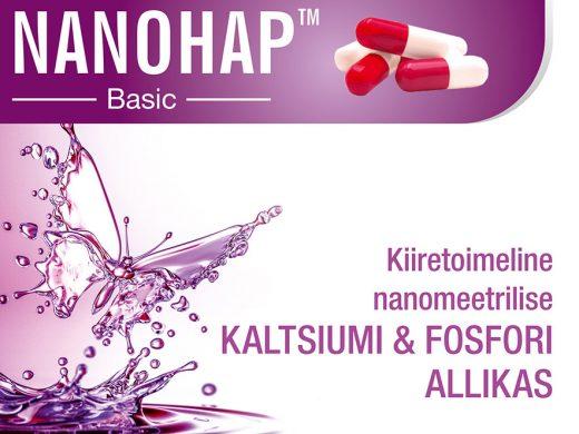NANOHAP™ Basic  – kiiretoimeline nanomeetrilise kaltsiumi & fosfori allikas